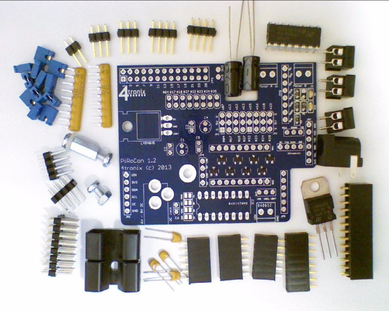 Pirocon Robotics Controller For Raspberry Pi  U2013 Assembling