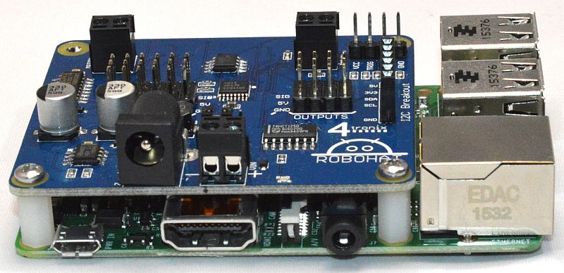 RoboHAT – Robotics Controller for Raspberry Pi – 4tronix