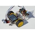 Pizazz 2WD Robot for Raspberry Pi, Line following and obstacle sensors