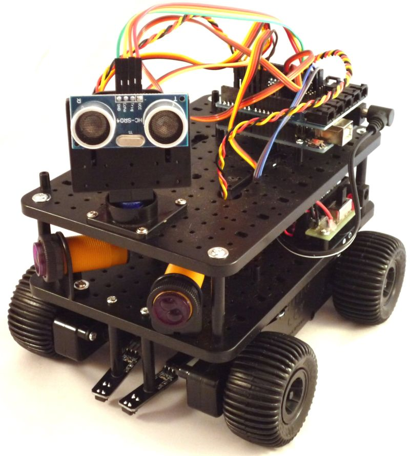 Ultimate 4tronix initio 4wd robot kit for arduino for Robot motors and parts