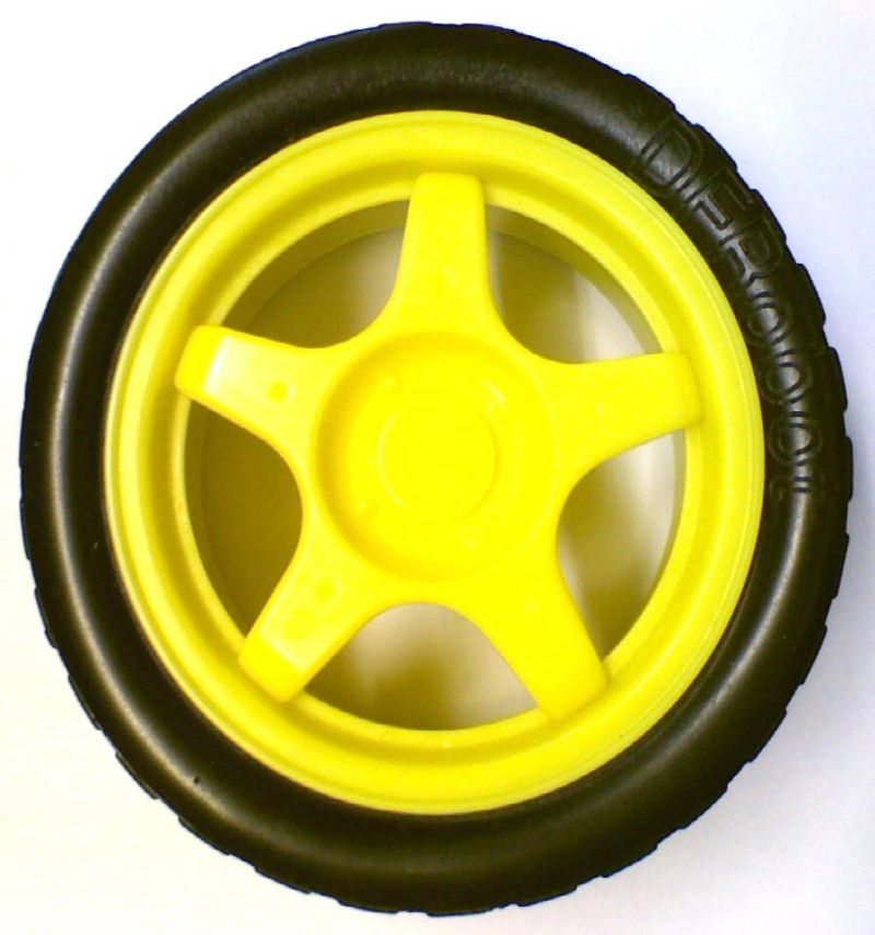 65mm yellow wheel for arduino smart robot car for Robot motors and wheels